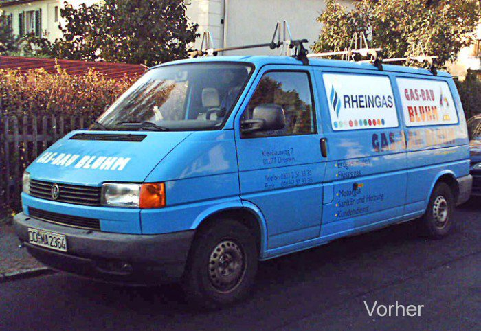 Gasbau-Auto alt